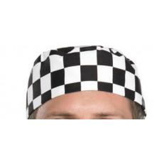 Chef Skull Cap - Black/White