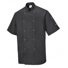 Chef Jacket S/Sleeve - Black