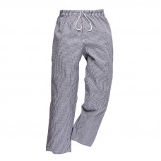 Chef Trousers - Navy/White Small Check