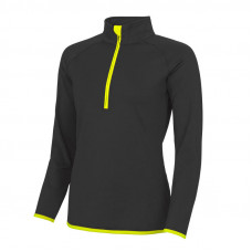 Jo Martin 1/4 Zip Top Ladies - Black/Yellow