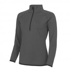 Jo Martin 1/4 Zip Top Ladies - Charcoal/Black