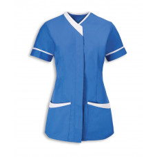 Tunic Ladies Contrast Trim Hospital Blue