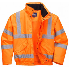 Hi-Vis Jacket Bomber Orange