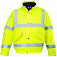 Hi-Vis Jacket Bomber Yellow