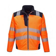 Hi-Vis Jacket Softshell Orange/Navy