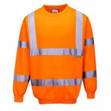 Hi-Vis Sweatshirt Crew Neck Orange