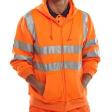 Hi-Vis Zip Front Hoody Orange