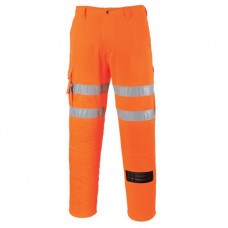 Hi-Vis Rail Combat Trousers Orange