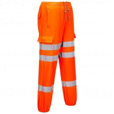 Hi-Vis Jogging Bottoms Orange