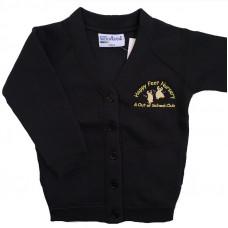 Happy Feet Nursery Cardigan Sweatshirt - BLACK