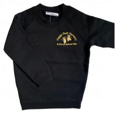Happy Feet Nursery Crew Neck Sweatshirt - BLACK