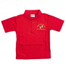 Happy Feet Nursery Polo Shirt - RED