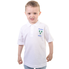 Woodpark Nursery White Polo Shirt