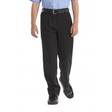 Boys Trousers Sturdy fit Black (BELT)