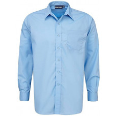 Boys Shirt Blue Long Sleeve (pack of 2)