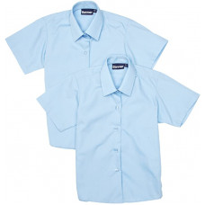 Boys Shirt Blue Short Sleeve (pack of 2)