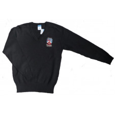 Biggar High School Cotton V-neck Jumper