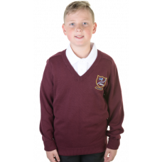 Carstairs Junction Primary Cotton V-neck Jumper