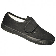 Gym Shoes Black Velcro