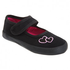 Gym Shoes Girls Loveheart Velcro