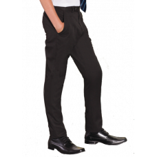 Boys Trousers Slim fit Black (Senior)[1KA]
