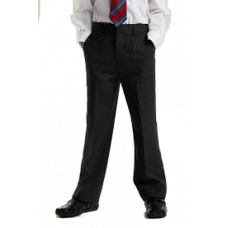 Boys Black Slimfit Trousers