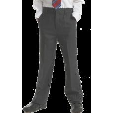Boys Grey Slimfit Trousers