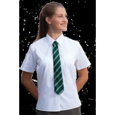 Girls Blouse White Short Sleeve (pack of 2)