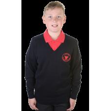 Lanark Primary Cotton V-Neck Jumper