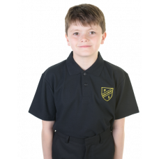 New Lanark Primary Black Polo Shirt