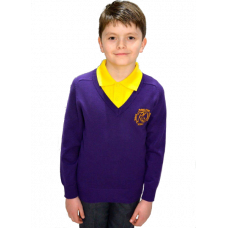 Robert Owen Primary Cotton V-Neck Jumper