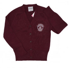 St Athanasius Primary Girls Cotton Cardigan - Burgundy