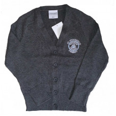 St Athanasius Primary Girls Cotton Cardigan - Grey