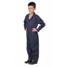 Boilersuit Zip P/Cotton Kids Navy (Junior)
