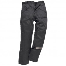 Trousers Action Lined Black (Reg Leg)
